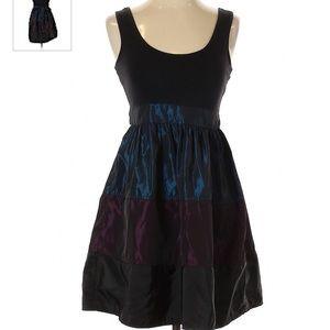 Twenty One Black, Purple & Blue Sleeveless Dress L